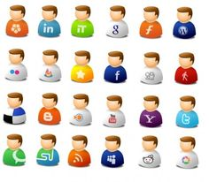 IcoTexto Web 2.0 User icons pack
