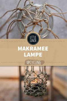 Glas Upcycling: 4 herbstliche DIY-Ideen Do it yourself Makramee Lampe Interior Room Decoration, Big Living Rooms, Home Grown Vegetables, Upcycled Home Decor, Diy Upcycling, Little Lunch, Boho Diy, Hallway Decorating, Made Goods