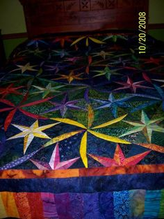 Twisted Star ~ Quiltworx.com, made by Ruth Mendel