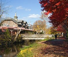 Lambertville, NJ  Getaway from: Boston, New York City  This town, filled with Victorian and Federal-style homes, is the perfect spot for a low-key romantic getaway. Expect antique stores, wine shops, and moderate biking and walking trails, set along the eastern shore of the Delaware River. For the utmost in romance, take a horse-drawn carriage ride through the historic part of town.