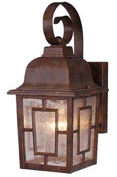 Vaxcel USA OW37563RBZ Vista 1 Light Mission Outdoor Wall Lamp Lighting Fixture