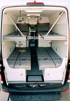 33 Camper Van Conversion Ideas , My van resembles a sauna. The Sprinter van also will come with many security characteristics that ensure that everybody is safe at all times. The Spri. Sprinter Van Conversion, Van Conversion Layout, Van Conversion Interior, Camper Van Conversion Diy, Van Interior, Van Conversion Seats, Custom Camper Vans, Custom Campers, Cool Campers