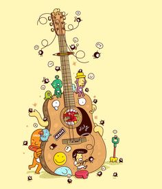 Guitar by 3LAND, via Behance