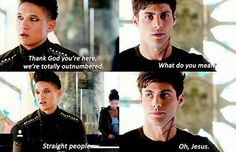 #malec #shadowhunters #funny #straight #people #gay
