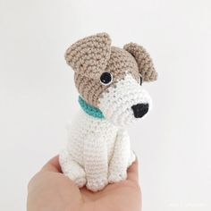 Made to Order JACK RUSSELL crochet amigurumi Jack Russell Puppies, All Toys, Toy Sale, Hand Sewing, Dog Lovers, Hello Kitty, Make It Yourself, Crochet, Handmade