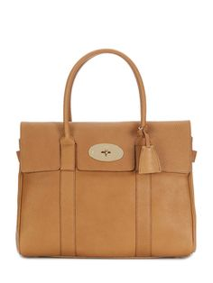 Bayswater  Grained Leather Medium Satchel from British Invasion Feat. Mulberry Accessories on Gilt