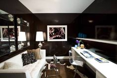 Home Design and Decor , Black Interior Paint Walls : Study Room With Black…