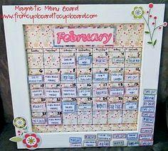 Magnetic Menu Board (Super Saturday Idea)
