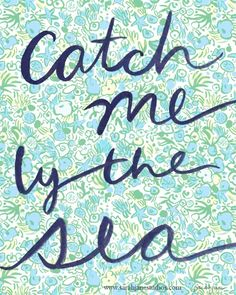 Catch me by the Sea Print: by sarah jane