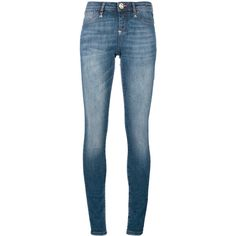 """Philipp Plein """"Float"""" Jogging (475 CAD) ❤ liked on Polyvore featuring jeans, denim blue, punk skinny jeans, jogger jeans, denim skinny jeans, blue jeans and 5 pocket jeans"""