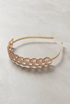 Double Leaf Goldenes Haarband