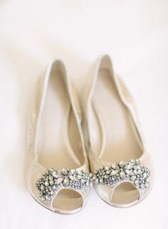 Peep Toe Bridal Flats | photography by http://justindemutiisphotography.com