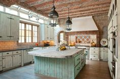 cuisine en bois avec aspect rustique
