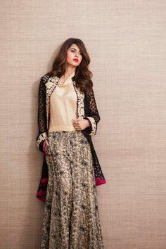 zainab chottani double shirt with palazzo eid collection