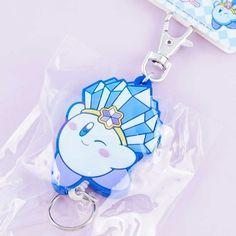 Kirby Ice Retractable Keyring Charm - Blippo Kawaii Shop