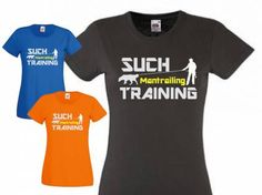 Fan-Shirts für HundefreundeT-Shirt Damen Spruch -Mantrailing-, schwarz…