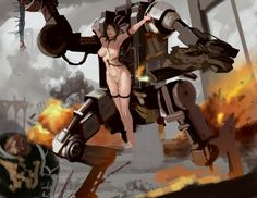 Fetish Engine by MikazukiShigure.deviantart.com on @DeviantArt - More at https://pinterest.com/supergirlsart/ #penitentengine #40k #chaosspacemarine #sistersofbattle #warhammer40k #w40k #female #nude #art #scifi #mech #robot #art