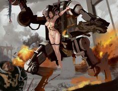 Fetish Engine by MikazukiShigure.deviantart.com on @DeviantArt - More at https://pinterest.com/supergirlsart/ #penitentengine #40k #chaosspacemarine #sistersofbattle #warhammer40k #w40k #female #nude #art #scifi #mech #robot #art