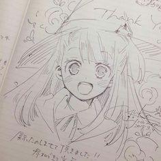 Dessin sorcière Akko Little Witch academia par _yuka_f. Anime Drawings Sketches, Anime Sketch, Manga Drawing, Manga Art, Cute Drawings, Anime Chibi, Kawaii Anime, Manga Anime, Anime Art