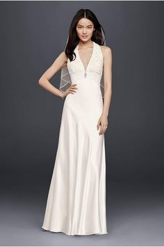 Melissa Sweet  Linear Lace Wedding Dress - Davids Bridal
