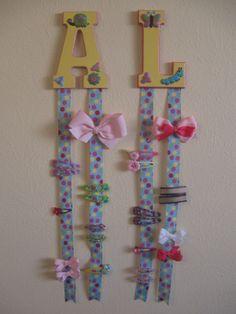 Hair bow organizer. What Fun is Organizing if it isn't Cute?