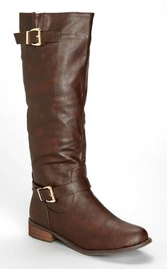 Bucco Brown Bistania Buckle Boot