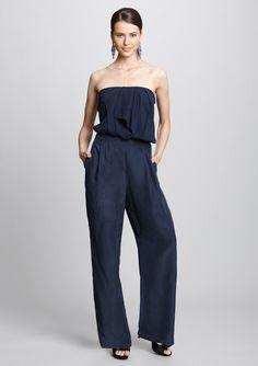 NICOLE MILLER  Strapless Jumpsuit - @ideeli $189.99