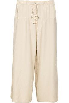 The Row Nopraw cropped woven wide-leg pants   NET-A-PORTER
