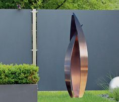 Flight - Modern Copper Outdoor Art Sculpture Beautiful copper outdoor sculpture available now. Water Sculpture, Metal Art Sculpture, Steel Sculpture, Outdoor Sculpture, Modern Sculpture, Outdoor Art, Abstract Sculpture, Garden Sculptures, Abstract Art