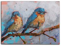 """Two In Blue 30"""" X 40"""""""