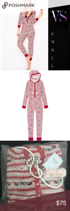 VS Pom Pom Thermal Onesie Red Plaid Fairisle S New in packaging. Red Plaid Fairisle. Size small. Victoria's Secret brand. MSRP $68. SOLD OUT ON VS WEBSITE *PRICE FIRM* Victoria's Secret Intimates & Sleepwear Pajamas