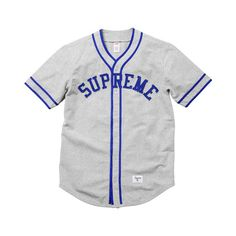 [WTB] Supreme Baseball Jersey SS10 ❤ liked on Polyvore featuring tops, shirts, jersey, clothes., shirt jersey, jersey shirt, baseball jersey top, jersey top and baseball jersey shirts