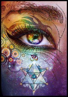 .colorful eye