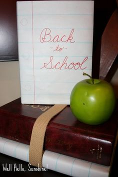 Back to School: Could be fun to use one of my old banners and make a huge sheet of ruled paper... Hmm...