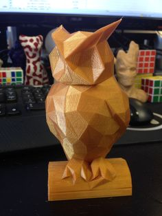 Low Poly Owl by rbschultz http://thingiverse.com/thing:452724