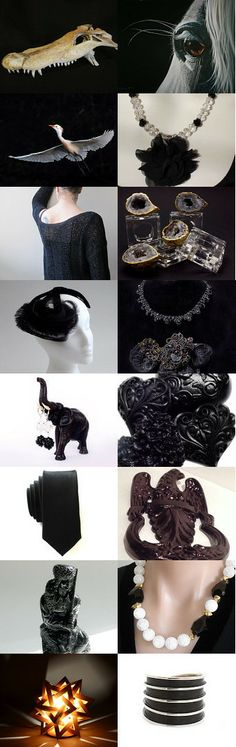 Black as Night! by Dr. Erika Muller on Etsy--Pinned with TreasuryPin.com   #Etsy RPM