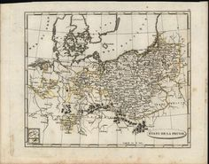 Prussia Konigsberg Cleves Modern Day Poland & Germany 1804 antique engraved map