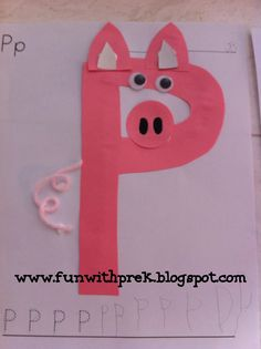letter p crafts for preschool preschool crafts Letter P Activities, Preschool Letter Crafts, Alphabet Letter Crafts, Abc Crafts, Preschool Projects, Daycare Crafts, Preschool Activities, Letter Tracing, Letter Art