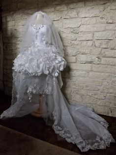CUSTOM Handmade White Wedding Dress Train White by Arabescque