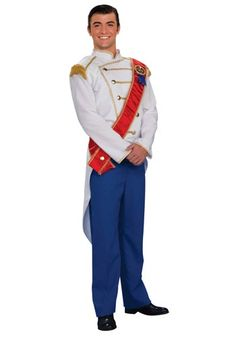 Get ready to sweep pretty princesses off their feet when you wear this Prince Charming Costume. This is a great costume to wear while you search for an owner of a glass slipper.
