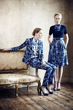 Erdem Resort 2013. - via @kennymilano #idemtikosay print blue...