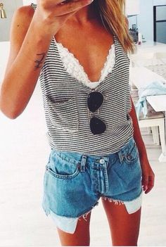 Stripes & lace.