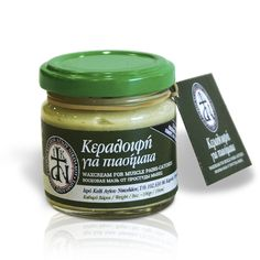 Wax cream from Mount Athos that is particularly effective in cases of colds, catches and muscle colds. Relieves muscle aches and joint pain. The essential oils and other ingredients that it contains create a sense of relaxation and wellbeing / Κεραλοιφή Αγίου Όρους για κρυολογήματα, πιασίματα, ψύξεις, μυϊκούς πόνους, πόνους αρθρώσεων και πιασίματα. Χαρίζει αίσθημα χαλάρωσης και ευεξίας. Secret Recipe, Hair Loss, Muscles, Essential Oils, Healing, Cream, Bottle, Religion, Creme Caramel