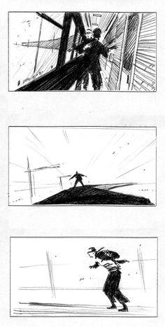 "Storyboard ""Le train"" - Perrier 2003"
