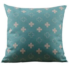 Little Cross Pattern Decorative Pillow Cover – AUD $ 19.40