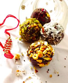 Indian inspired dark chocolate truffles