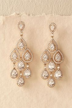 Aniston Chandeliers. Gold chandelier earrings with rhinestones. (sponsored affiliate link)