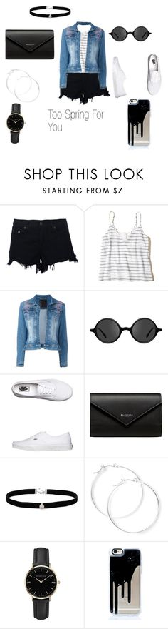 """""""Spring Shorty"""" by aspiringdesigner on Polyvore featuring rag & bone, Hollister Co., Philipp Plein, Muse, Vans, Balenciaga, Amanda Rose Collection, claire's and ROSEFIELD"""