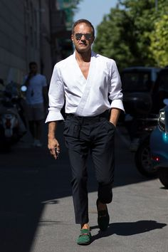 Street style мужской Недели моды весна-лето 2018
