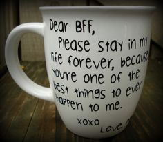 Personalized BFF Mug, Best friend cup, True friend cup, friendship mug, Custom friendship mug, Personalized mug